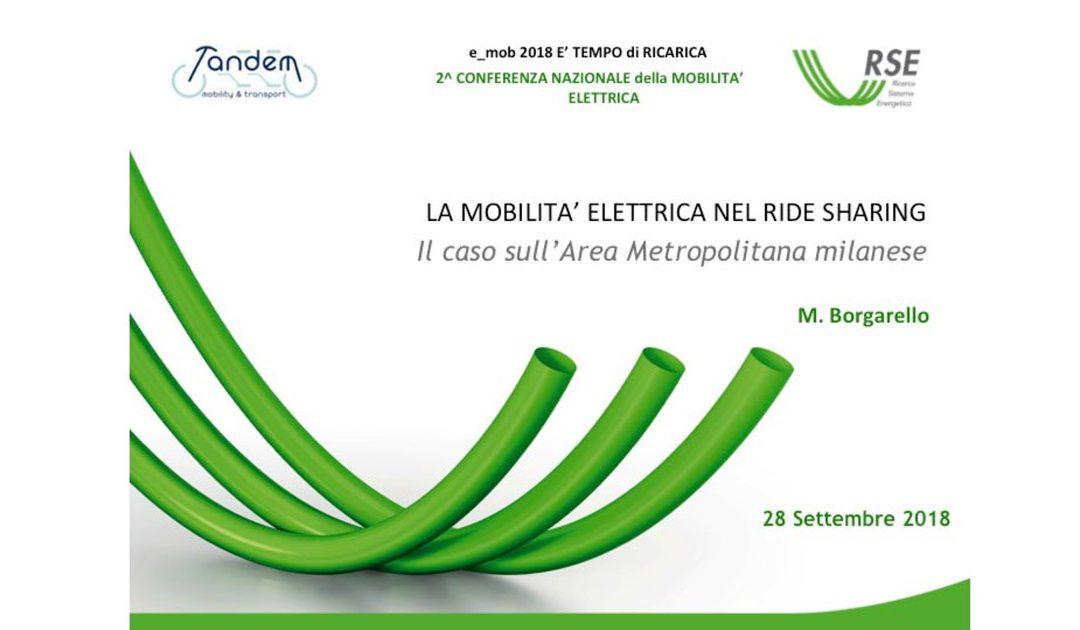 LA MOBILITA' ELETTRICA NEL RIDE SHARING: il caso sull'Area Metropolitana milanese