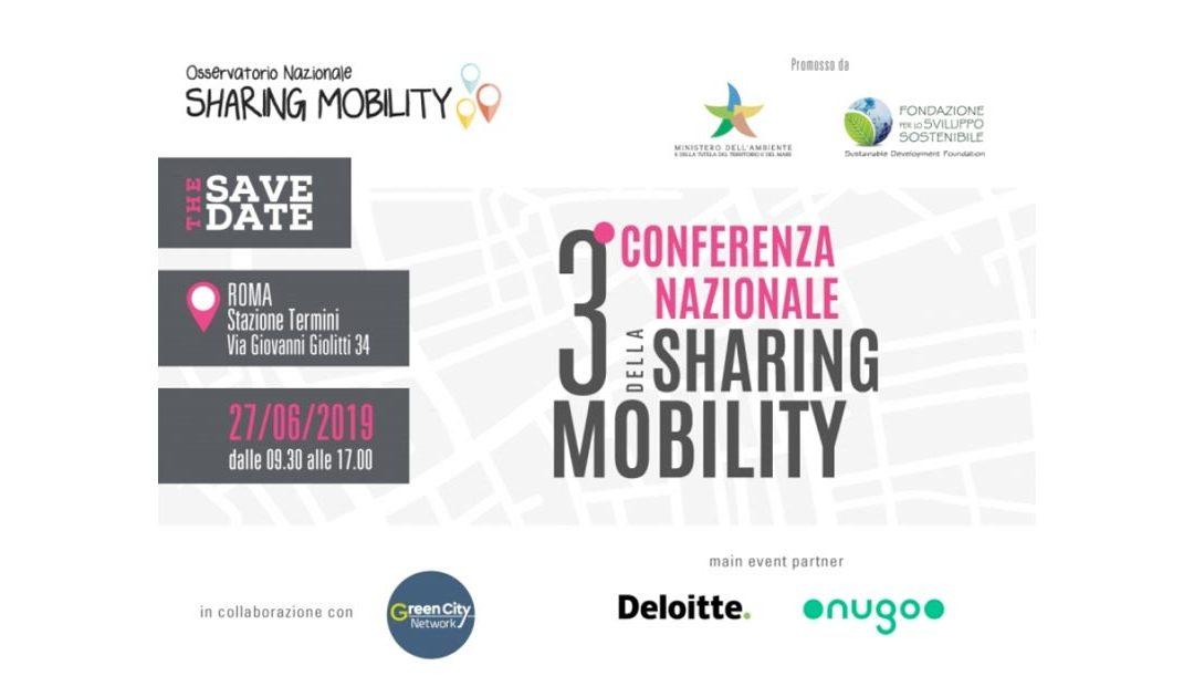 A Roma la 3° Conferenza nazionale sulla Sharing Mobility