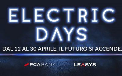 """FCA Bank e Leasys danno il via agli """"Electric Days"""": tre settimane di offerte dedicate alla mobilità elettrica"""