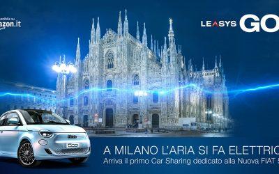 LeasysGO! apre al pubblico di Milano: arriva in città il primo car sharing dedicato alla Nuova 500