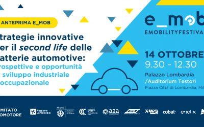 Cobat TV: Auto elettriche, arriva la prima filiera italiana per dare una seconda vita alle batterie al litio